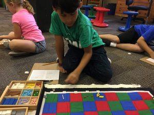 Checkerboard Multiplication, Montessori Private School, Arlington TX