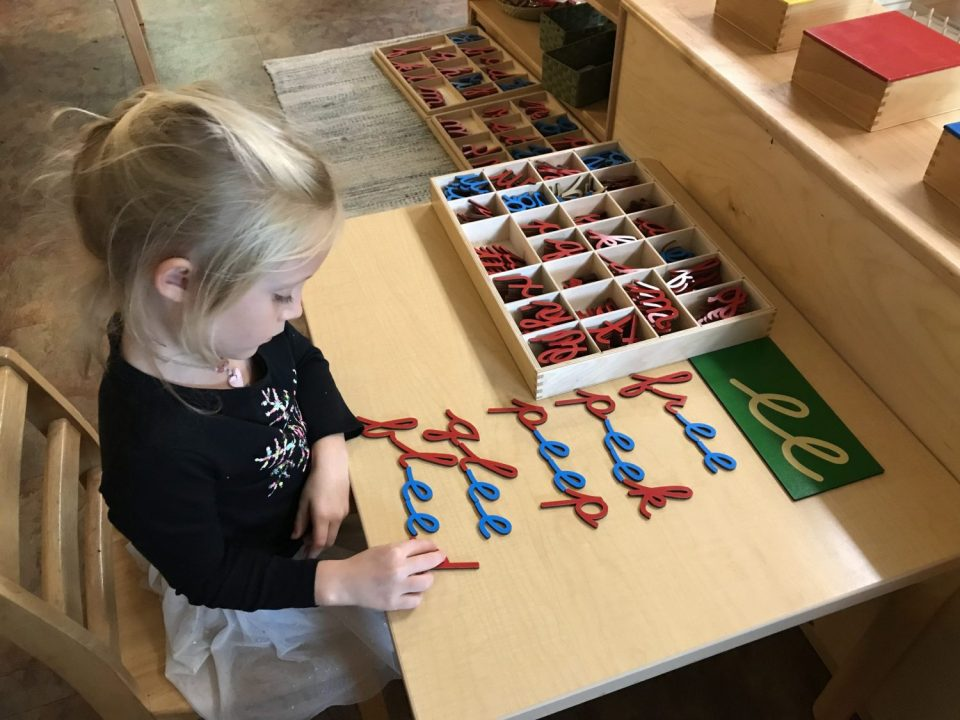 Early Childhood Movable Alphabet, Montessori Private School, Arlington TX