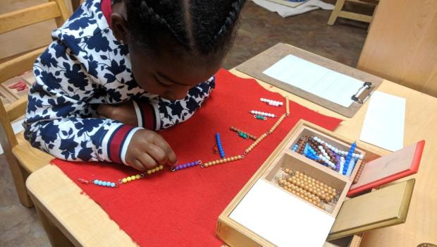 Early Childhood Math: Snake Game, Montessori Private School, Arlington TX