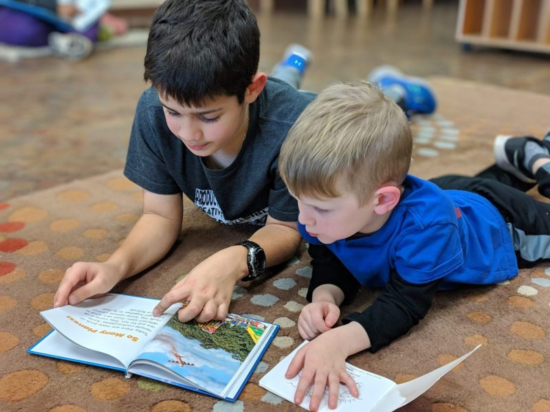 Reading Buddies, The Montessori Academy of Arlington, Private School Arlington TX