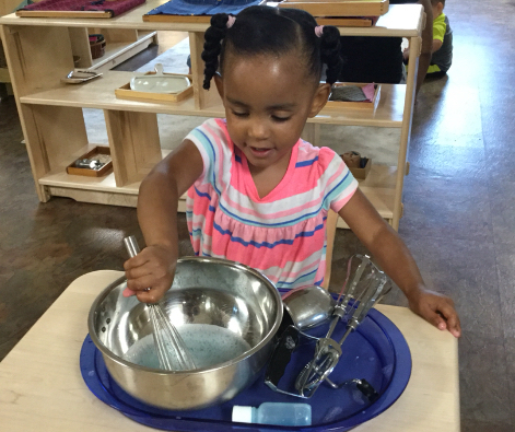 Toddler Bubble Whisking