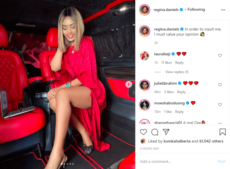Another Saucy Photo From Regina Daniels