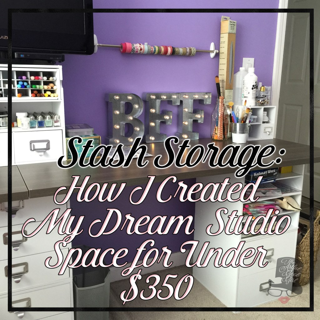 How I Created My Dream Craft Studio In Limited Space For Under $350