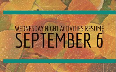 Wednesday Schedule