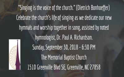 Hymnal and Robe Dedication