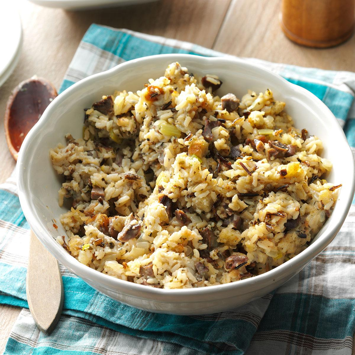 Wild Rice Stuffing Recipe   Taste of Home