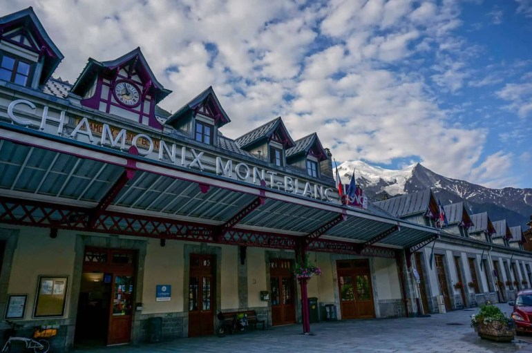 Chamonix Train Station, the start of the Haute Route.