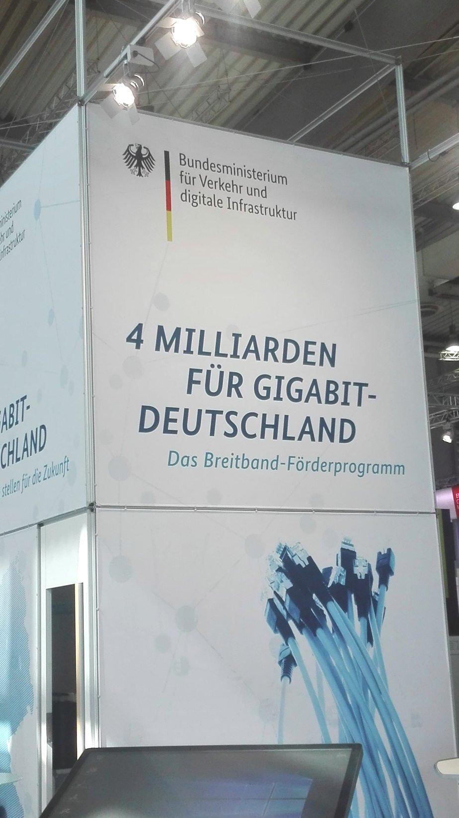 CEBIT 2018 Stand Bundesministerium fuer Verkehr - CEBIT 2018