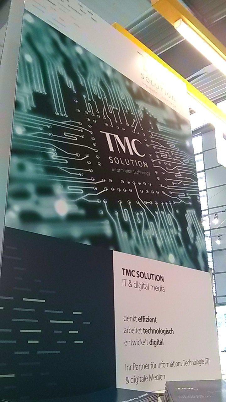 CEBIT 2018 TMC SOLUTION Stand Schild - CEBIT 2018