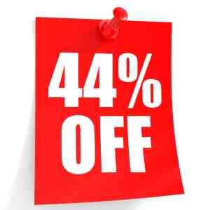 44% Off