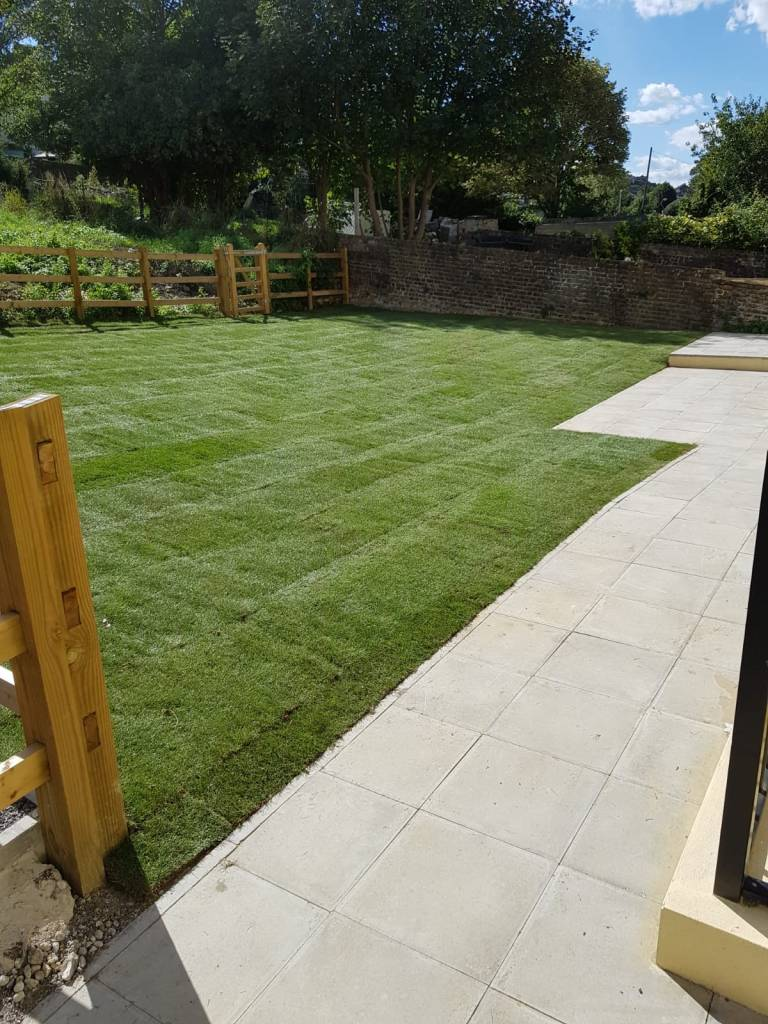 Post and Rail New Lawn, Fencing and Patio. Ashford, Kent. 2