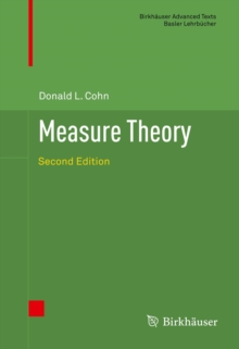 Measure Theory Second Edition Donald L Cohn