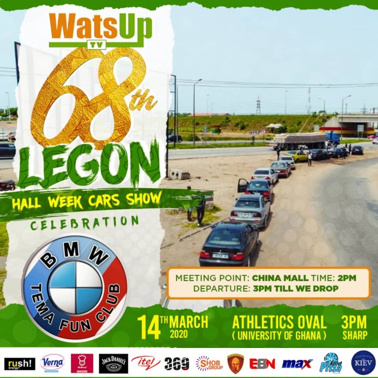 WatsUp TV 68th Legon Hall Week Celebration Will Be Spiced With BMW Cars and Bikers Show