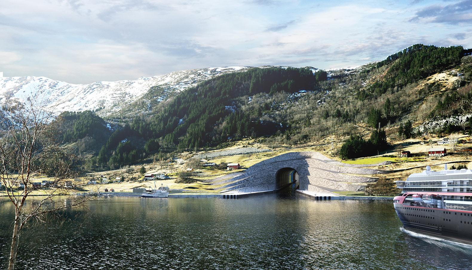 У Норвегії планується будівництво першого в світі судноплавного тунелю