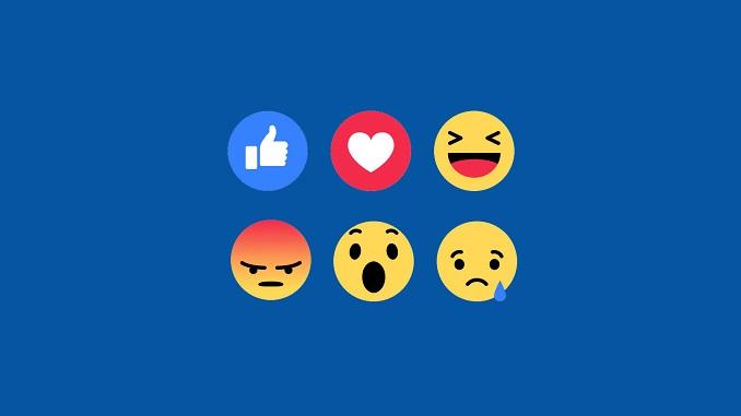 Facebook почав тестувати реакції і дізлайк