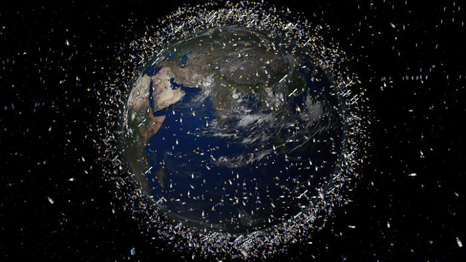 кількість космічного сміття на орбіті