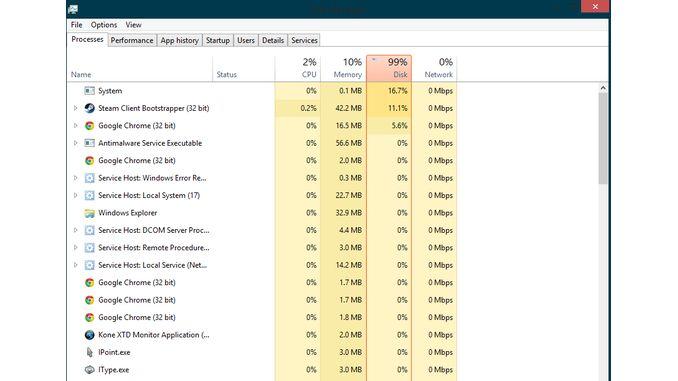100% завантаження диска в Windows 10: що робити?