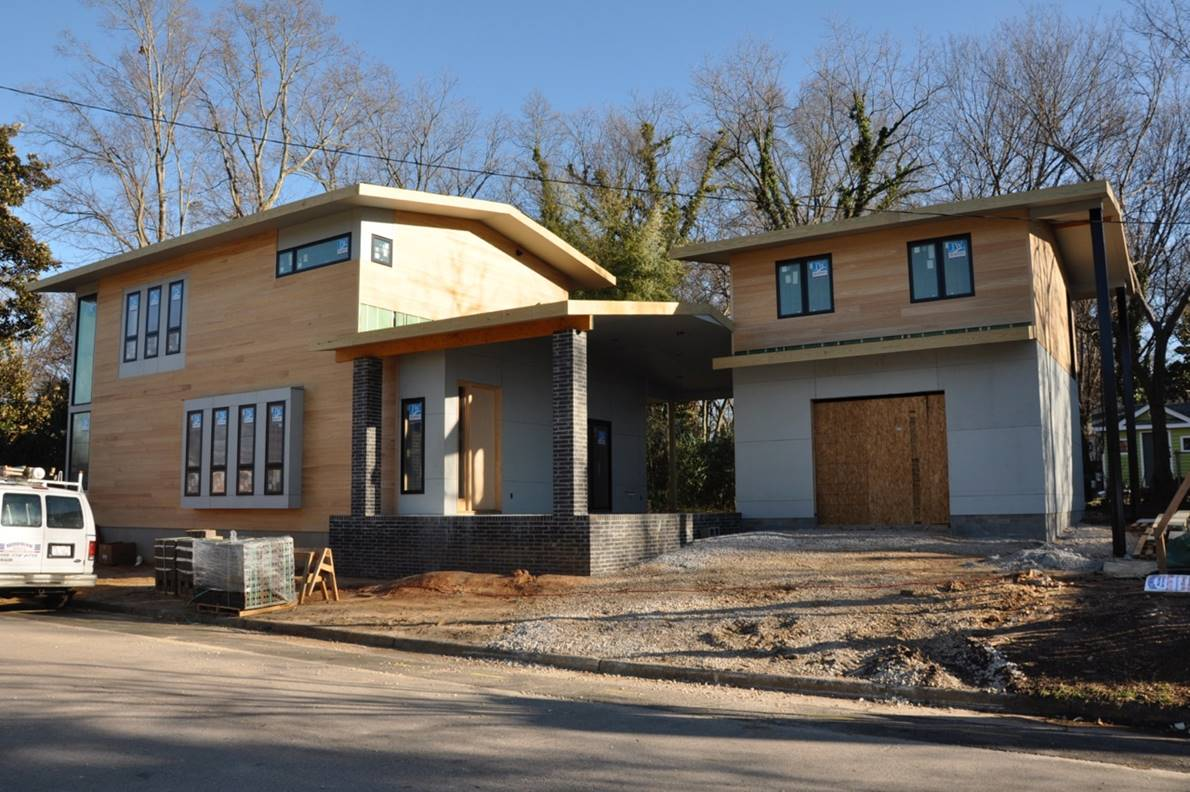 Oakwood Raleigh   NCMH Media The Cherry Gordon house  under construction  draws inspiration from  Craftsman style houses