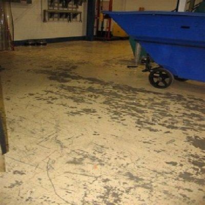 TMI Coatings Removes Peeling Paint From Concrete Floor