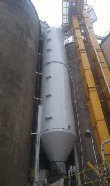 TMI Coatings was awarded a contract to coat the exterior of a dryer seed tank