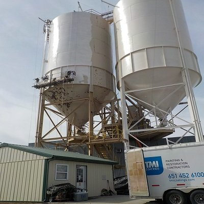 Workers from TMI Coatings ndustrial Painting of Silos, Lafarge North America, Inc.