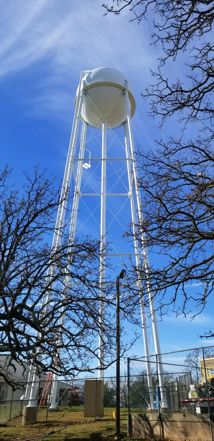 Water Tower Painted By TMI Coatings