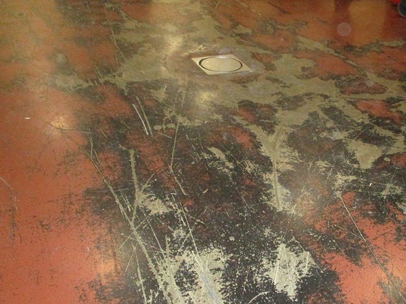 TMI Coatings Concrete Floor Restoration Before