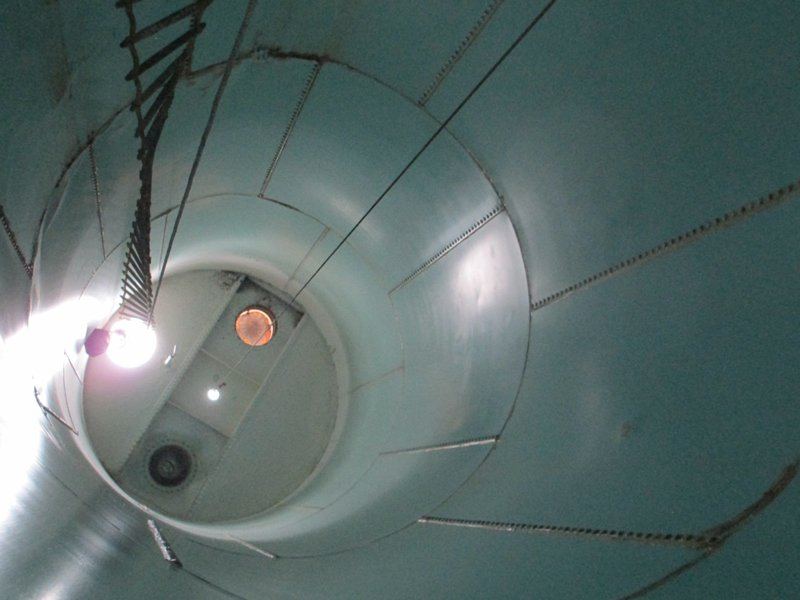 TMI Coatings Interior Steel Silo Restoration Before
