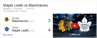 Game 3: Toronto Maple Leafs vs Chicago BlackHawks