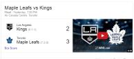 Game 9: Toronto Maple Leafs VS Los Angeles Kings