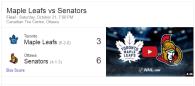 Game 8: Toronto Maple Leafs VS Ottawa Senators