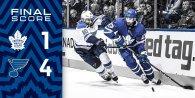 Game 9: St Louis Blues @ Toronto Maple Leafs (L 4-1)