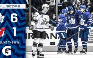 Game 16: New Jersey Devils VS Toronto Maple Leafs (W 6-1)