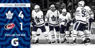 Game 31: Toronto Maple Leafs VS Carolina Hurricanes (W 4-1)