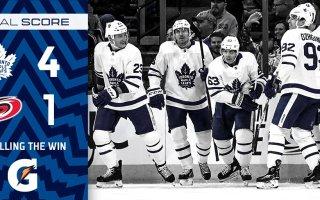 Game 31: Toronto Maple Leafs VS Carolina Hurricanes (W 4-1)