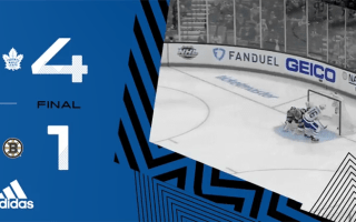 ECQF Game 1: Toronto Maple Leafs @ Boston Bruins (W 4-1)