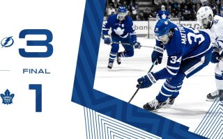 Game 81: Tampa Bay Lightning VS Toronto Maple Leafs (L 3-1)