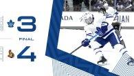 Pre-Season Game 2: Toronto Maple Leafs @ Ottawa Senators (L 4-3)