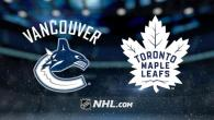 Game 32: Toronto Maple Leafs @ Vancouver Canucks (W 4-1)
