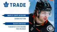 Maple Leafs Acquire Ben Hutton From Anaheim