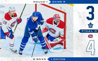 First Round, Game 5: Montreal Canadiens 4 – 3 Toronto Maple Leafs