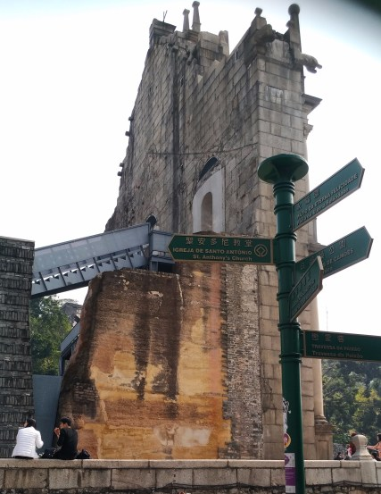 Travel-Macao-Historic Center of Macao-Back of Ruins of St Paul-20180210
