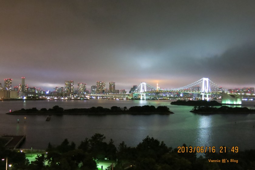 Tokyo Night View Odaiba Nikko Hotel raibow bridge_2