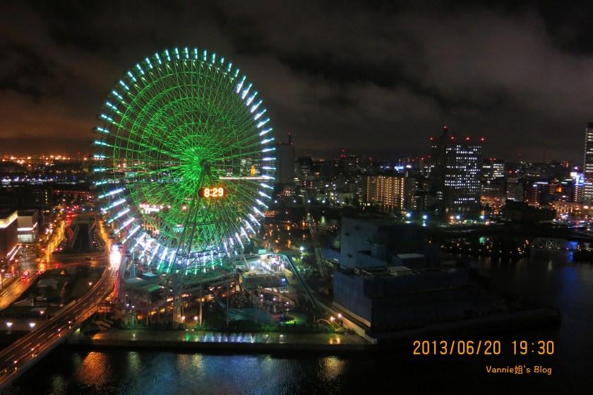 東京夜景飯店 橫濱灣東急大飯店 陽台夜景