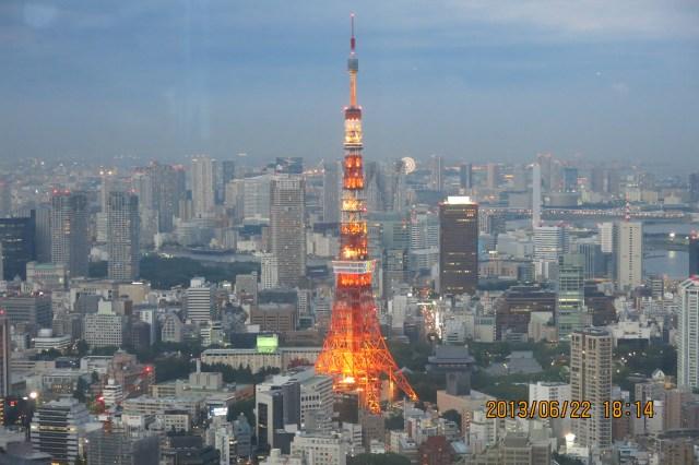 Tokyo Roppongi Hills Night View of Tokyo Tower_18:14