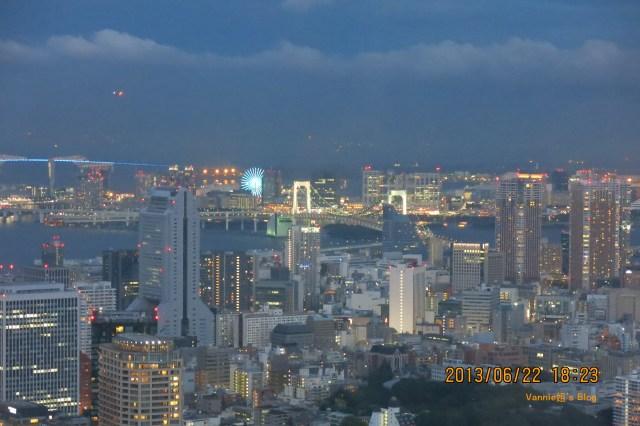 東京高樓夜景 六本木之丘森大樓看台場