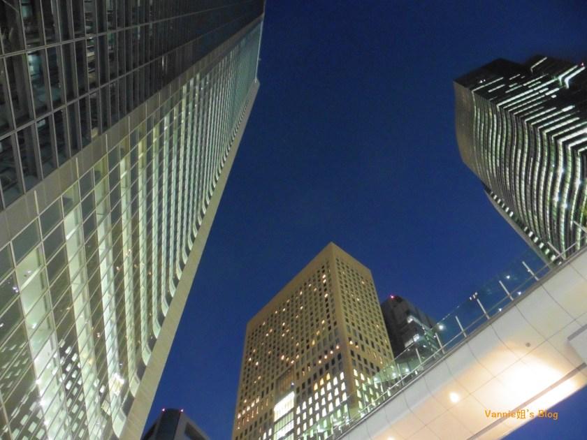 Tokyo Night View_Shiodome_Skyscrapers_2