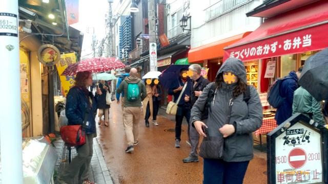 東京 谷中銀座,很多西洋人愛逛
