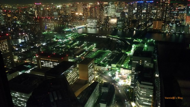 Tokyo Night View_Shiodome_Tokyo Bay