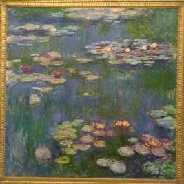 上野「國立西洋美術館」收藏莫內晚年250幅睡蓮畫作中的一幅